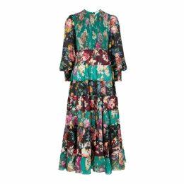 Zimmermann Allia Floral-print Silk Dress