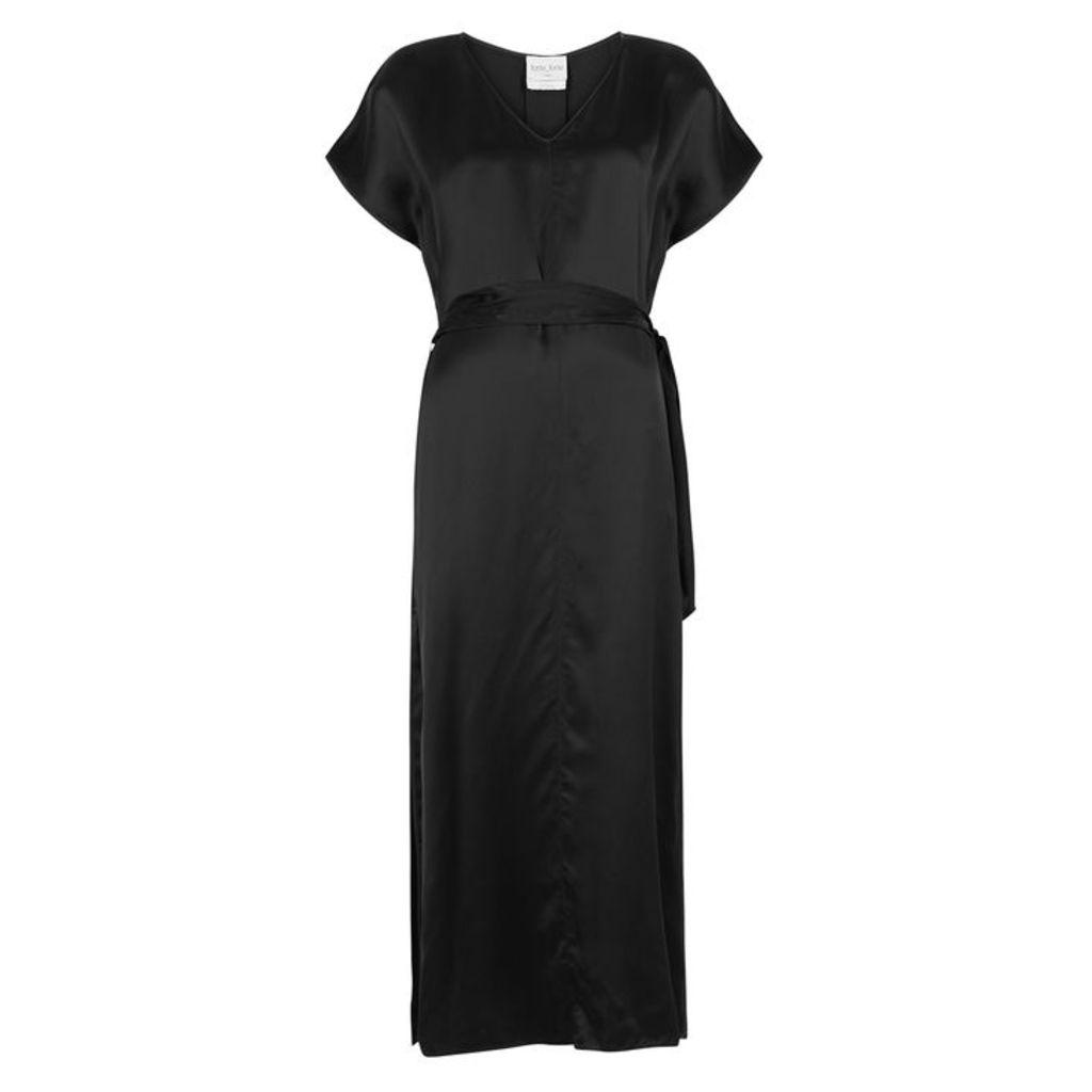 Forte forte Black Satin Dress