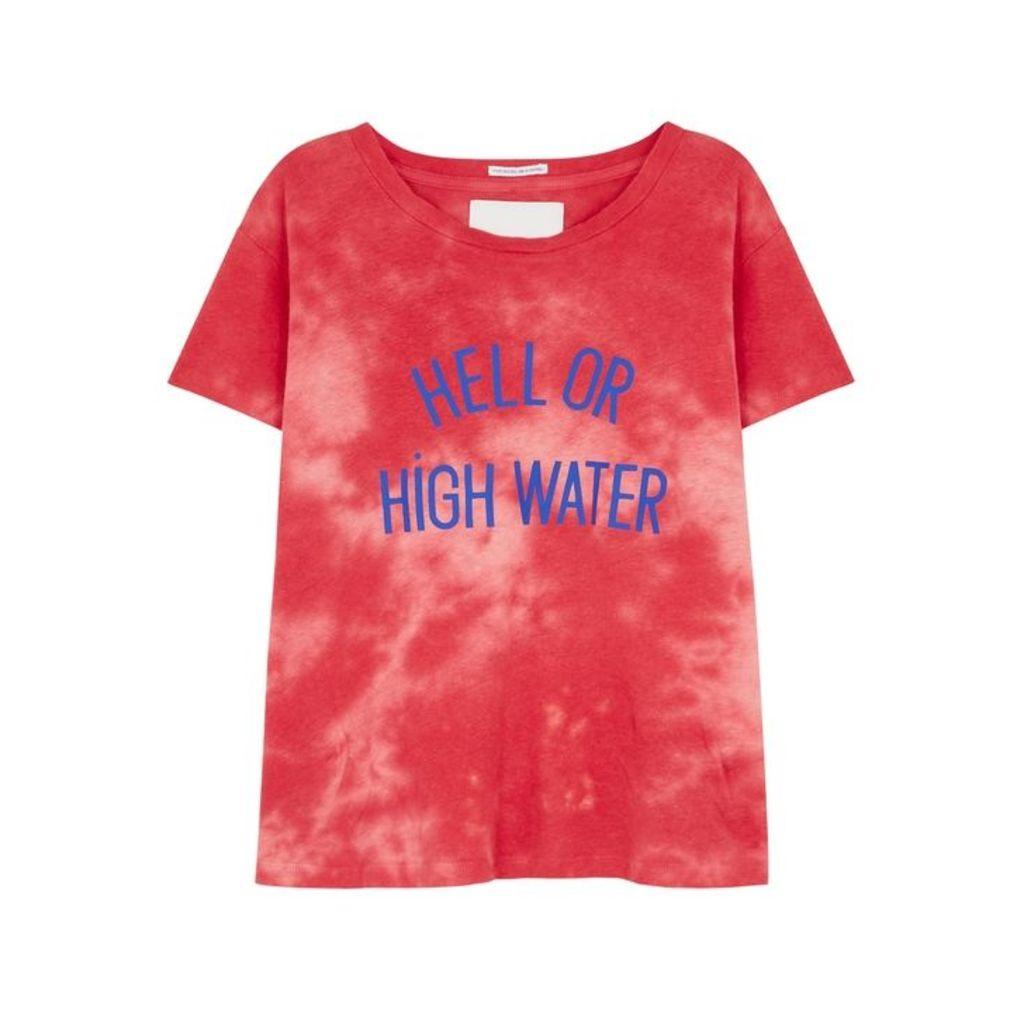 Mother Sinful Tie-dye Cotton-blend T-shirt