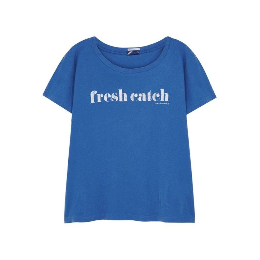 Mother Little Goodie Blue Cotton T-shirt
