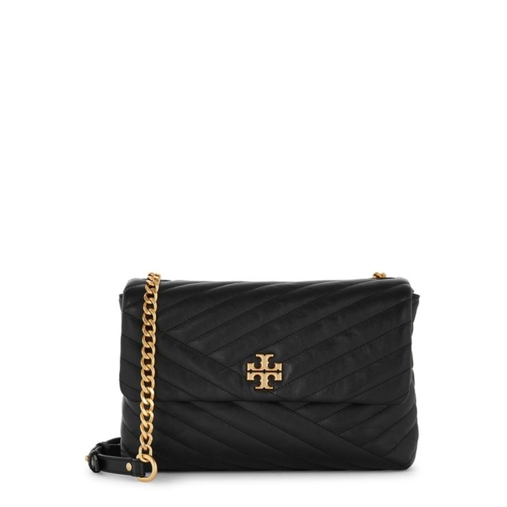 Tory Burch Kira Black Leather Shoulder Strap Bag
