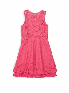 Girl's Layered Lace Dress