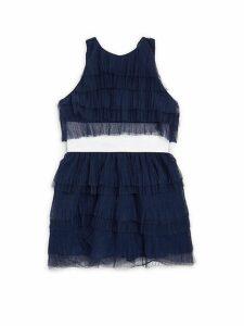 Girl's Elle Ruffle Tulle Dress