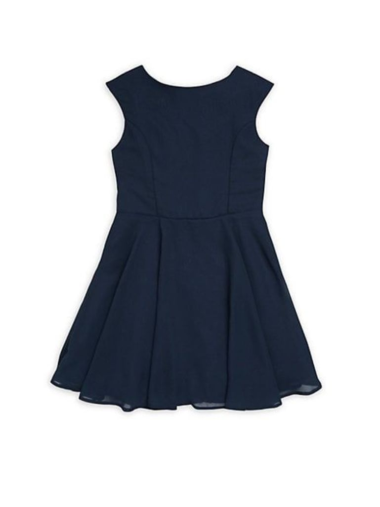 Girl's Chiffon Fit-&-Flare Dress