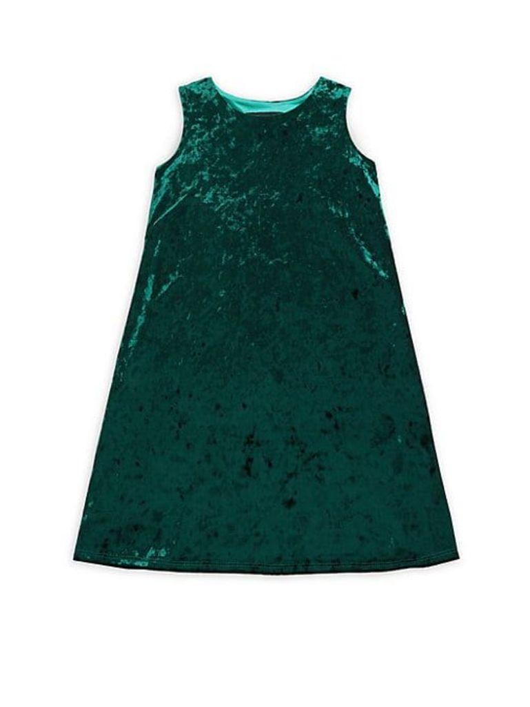 Girl's Crushed Velvet Dress