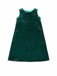 Girl's Crushed Velvet Dress