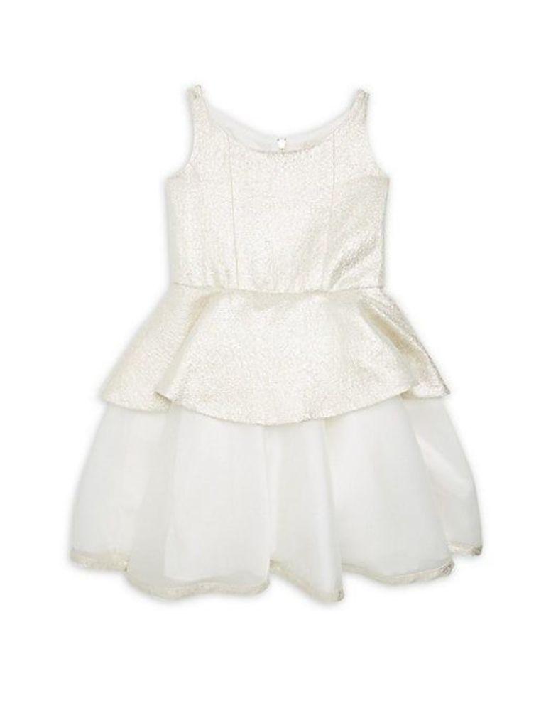 Girl's Peplum Layered Dress