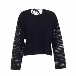 ELEVEN SIX - Faye Sweater In Black
