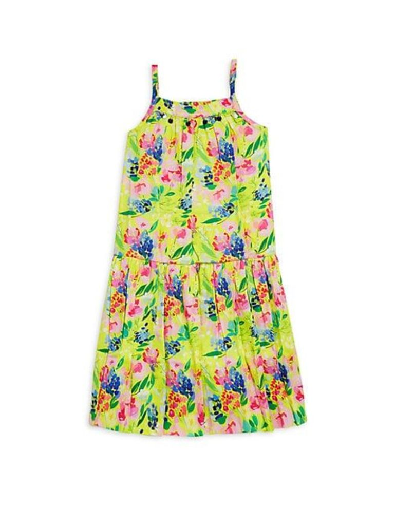 Little Girl's & Girl's Floral-Print Cotton Sundress