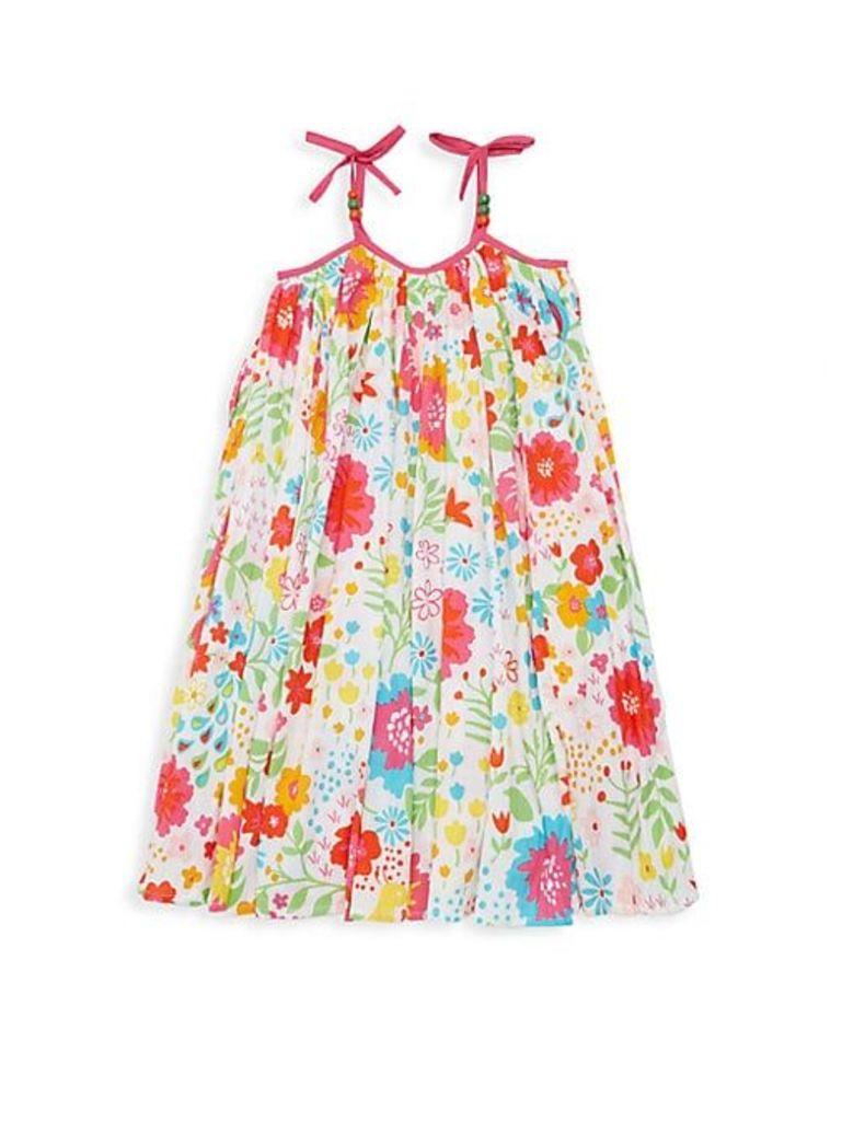 Little Girl's & Girl's Koko Floral Cotton Dress
