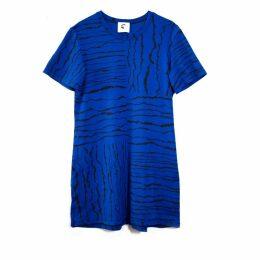 Lobo Mau - Straight Pocket T-Shirt Tunic with Torn Paper Print