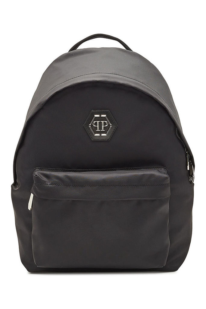 Philipp Plein Fabric Backpack with Leather