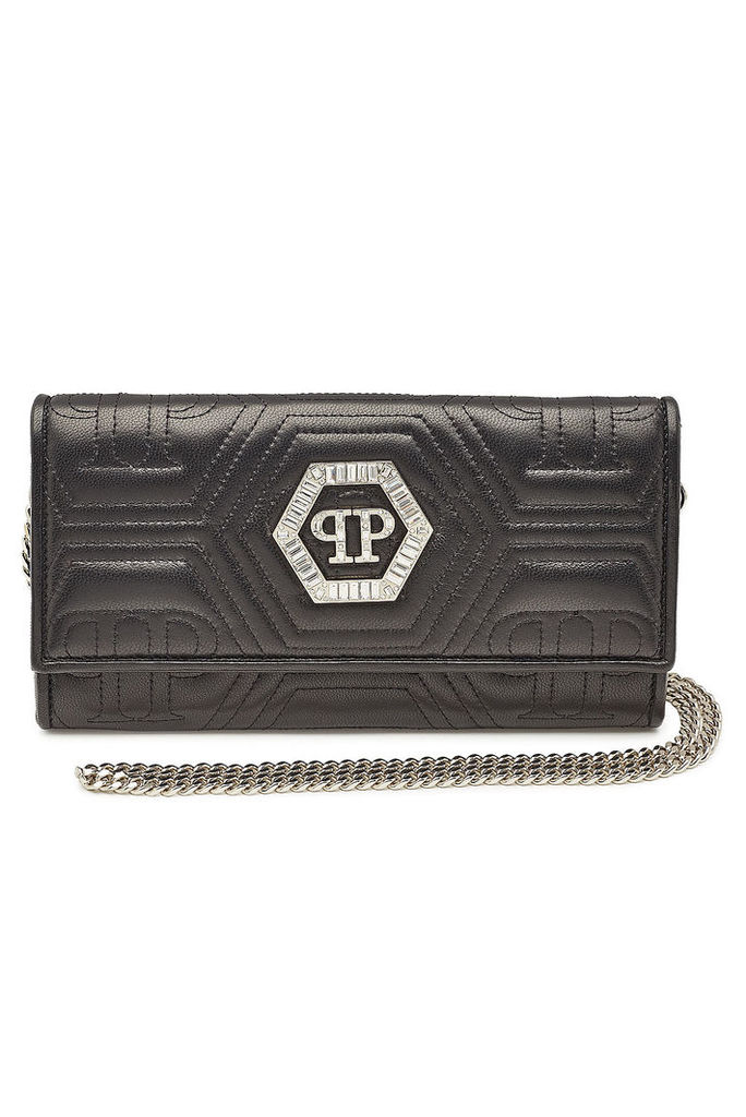 Philipp Plein Embellished Leather Clutch