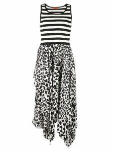 Missoni striped contrast print midi dress - Black