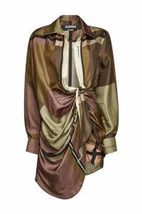 Jacquemus La Robe Bahia Printed Silk Dress