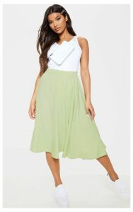 Sage Green Floaty Midi Skirt, Sage Green