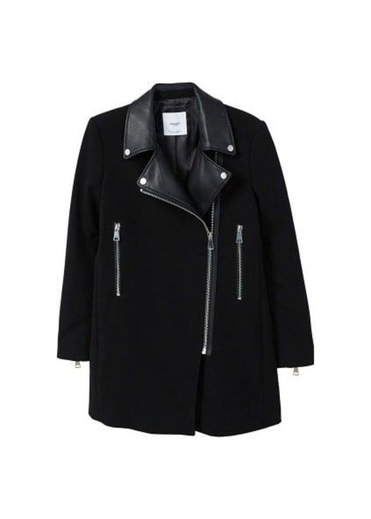 Zippers combined coat