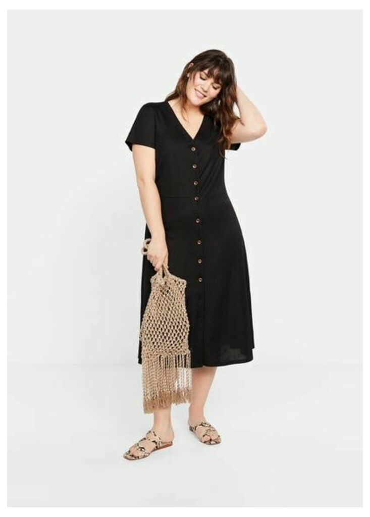 Buttoned midi dress