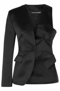 TOM FORD - Cutout Silk-satin Blazer - Black
