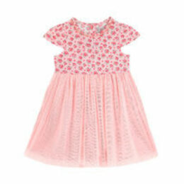 Hampton Rose Baby Jersey Net Dress