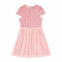 Hampton Rose Jersey Net Dress