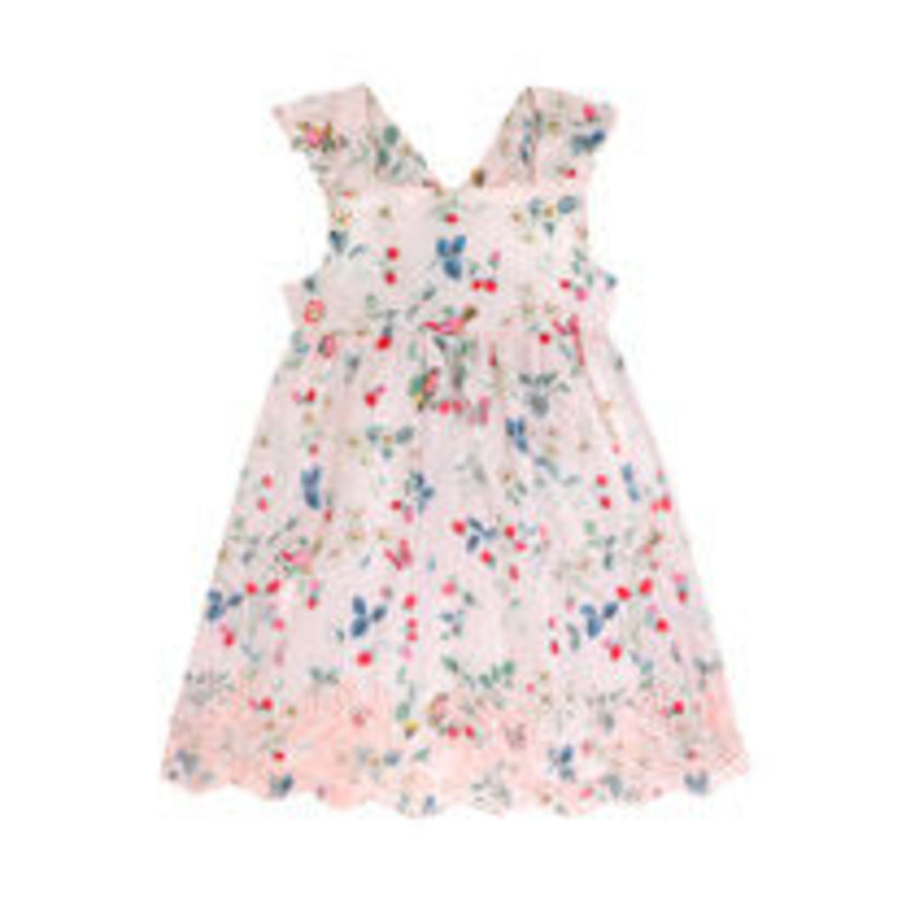 Birds and Berries Baby Broderie Anglaise Dress