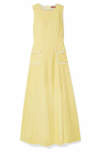STAUD - Bait Linen-blend Maxi Dress - Pastel yellow