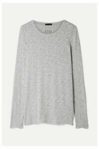 ATM Anthony Thomas Melillo - Slub Pima Cotton-blend Jersey Top - Gray