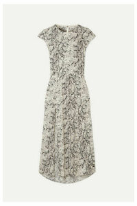 Reformation - Gavin Open-back Snake-print Crepe De Chine Midi Dress - Snake print