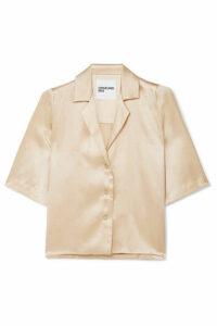 Orseund Iris - Le Funk Silk-satin Shirt - Cream