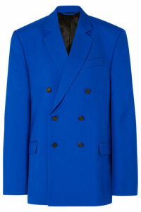 Balenciaga - Oversized Double-breasted Wool-blend Blazer - Blue