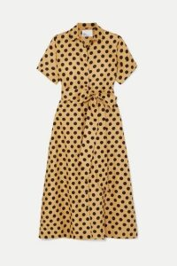 Lisa Marie Fernandez - Polka-dot Linen Midi Dress - Sand