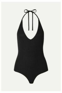ATM Anthony Thomas Melillo - Ribbed Stretch-micro Modal Halterneck Thong Bodysuit - Black