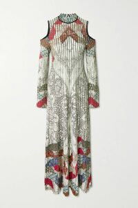Alexander McQueen - Tiered Lace-trimmed Knitted Dress - Black