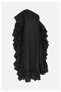 Kalita - Zahara One-shoulder Ruffled Cotton-voile Maxi Dress - Black