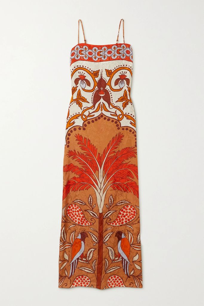Rosetta Getty - Draped Stretch-jersey Midi Skirt - Midnight blue