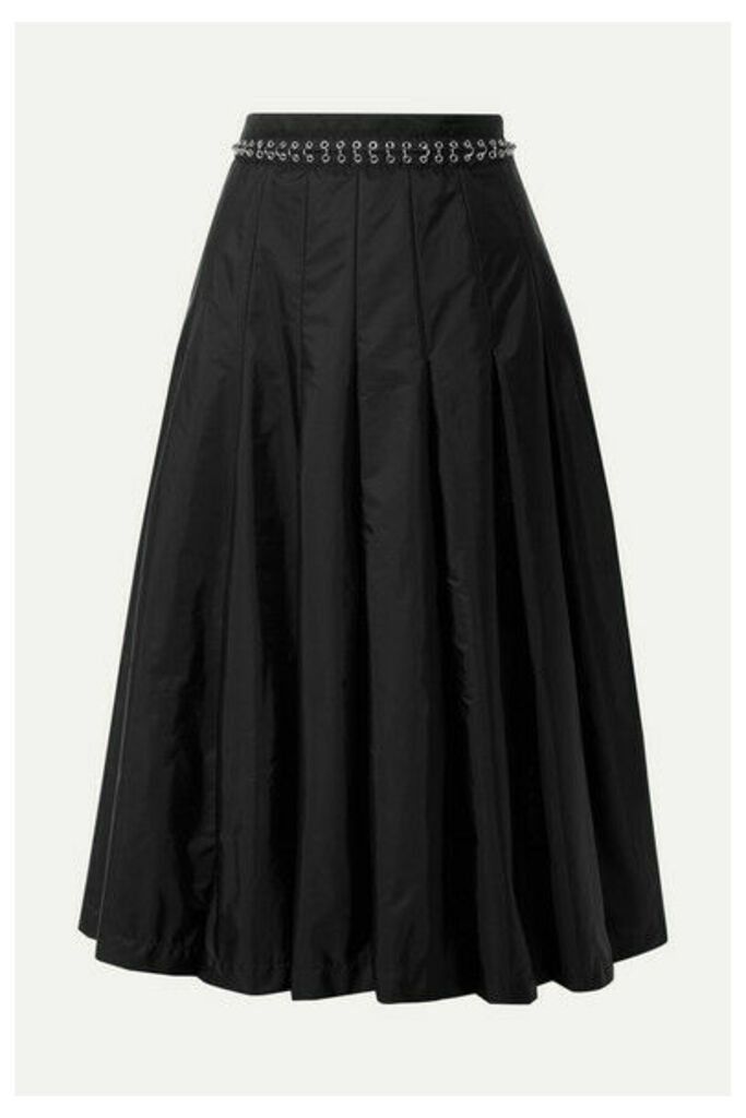 Moncler Genius - + 6 Noir Kei Ninomiya Pleated Chain-embellished Shell Midi Skirt - Black