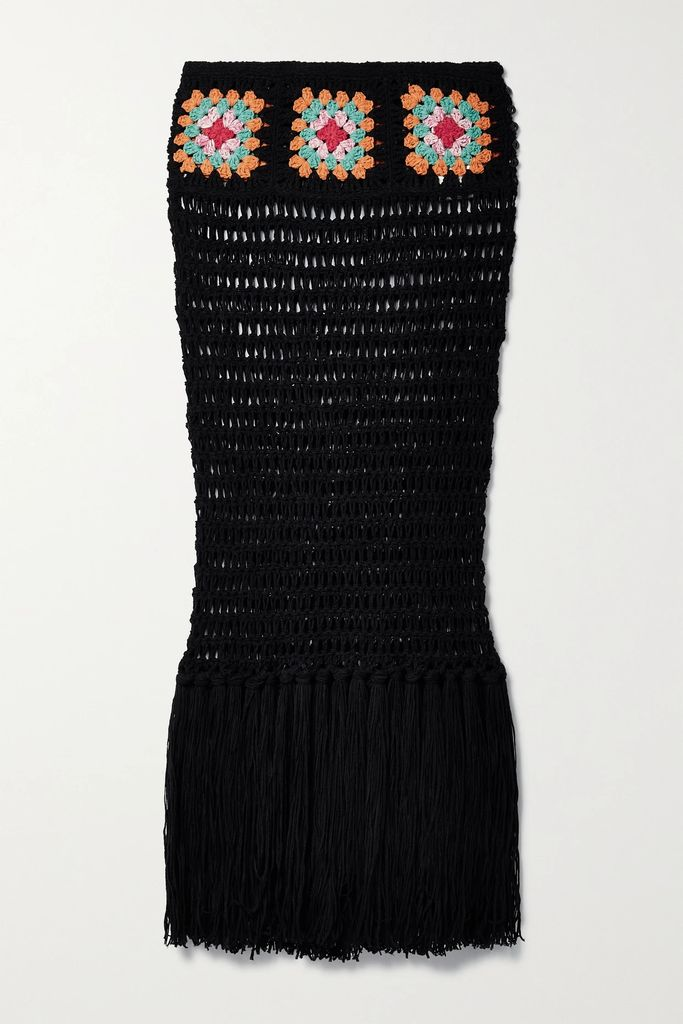 Moncler Genius - + 6 Noir Kei Ninomiya Perforated Poplin And Cotton-jersey T-shirt - Black