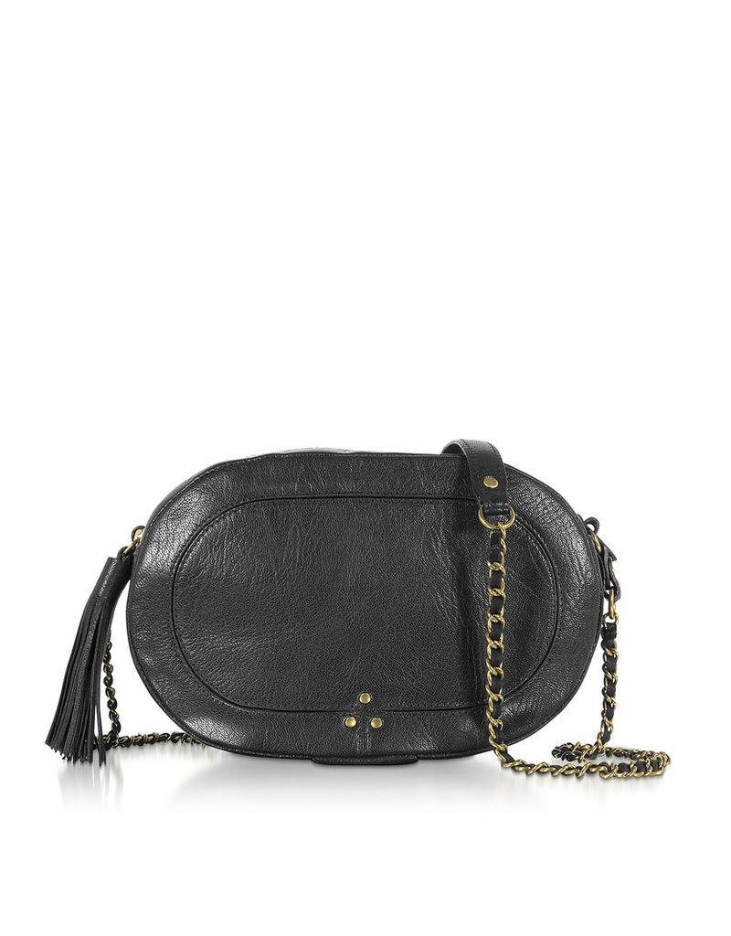 Jerome Dreyfuss Designer Handbags, Black Leather Shoulder Bag