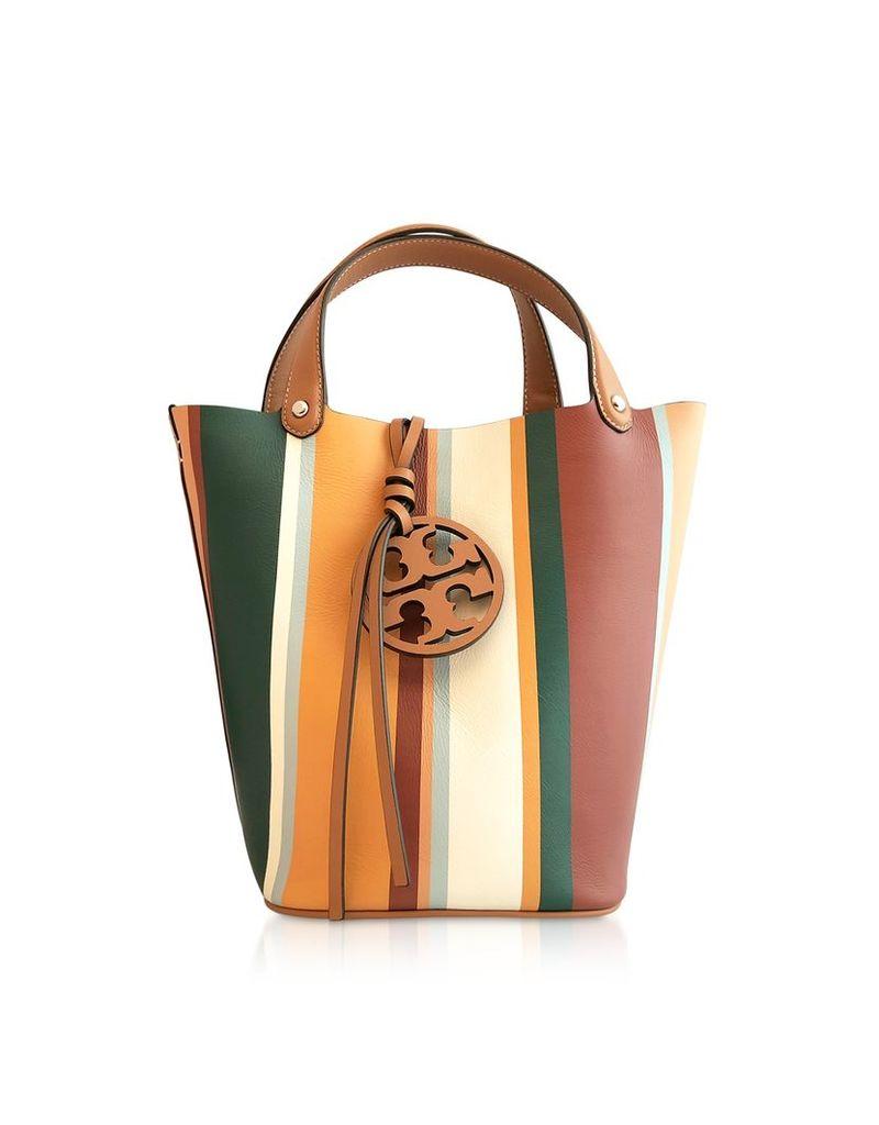 Tory Burch Designer Handbags, Miller Stripe Bucket Bag