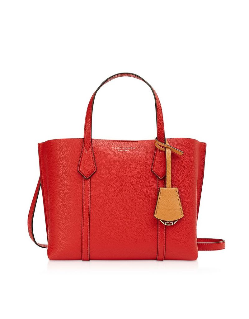 Tory Burch Designer Handbags, Brilliant Red Perry Small Triple-Compartment Tote