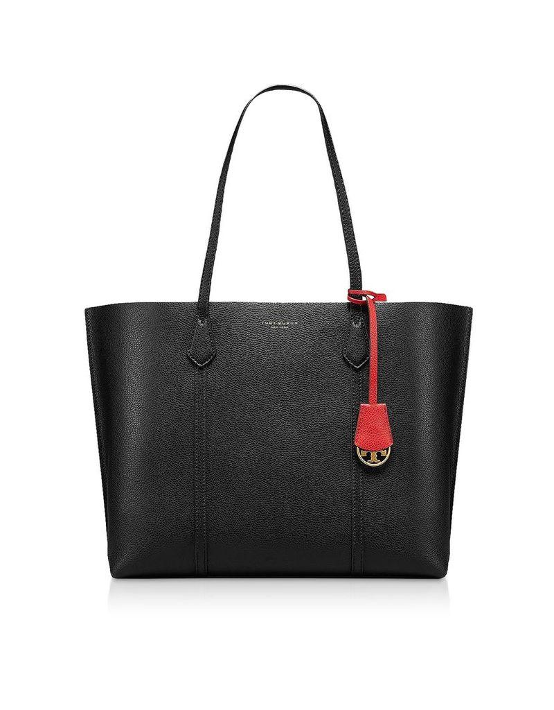 Tory Burch Designer Handbags, Black Perry Triple-Compartment Tote