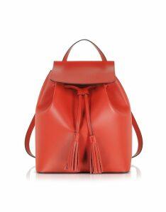 Gisèle 39 Designer Handbags, Genuine Leather Backpack w/Tassels
