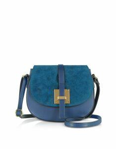 Gisèle 39 Designer Handbags, Pollia Leather and Suede Shoulder Bag