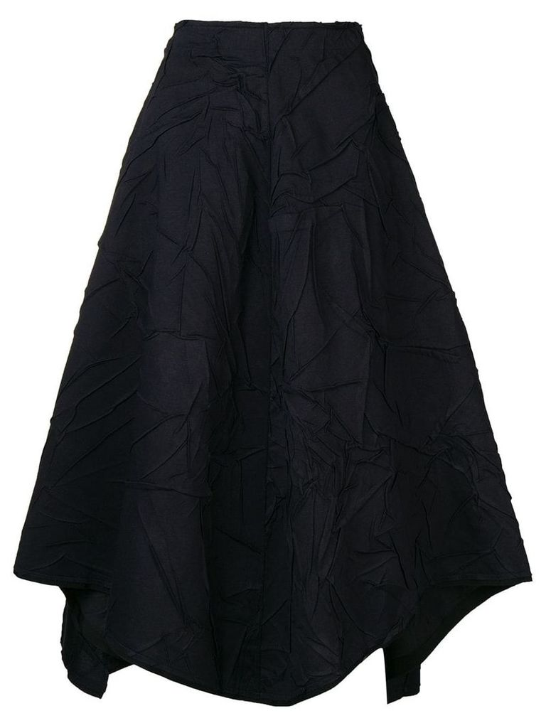 Stefano Mortari wrinkled effect skirt - Blue