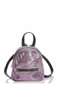 Quiz Pink Chainmail Backpack