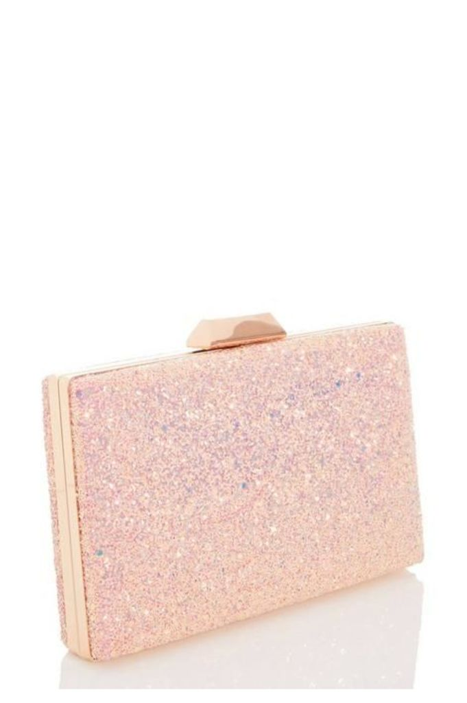 Quiz Pink Glitter Box Bag