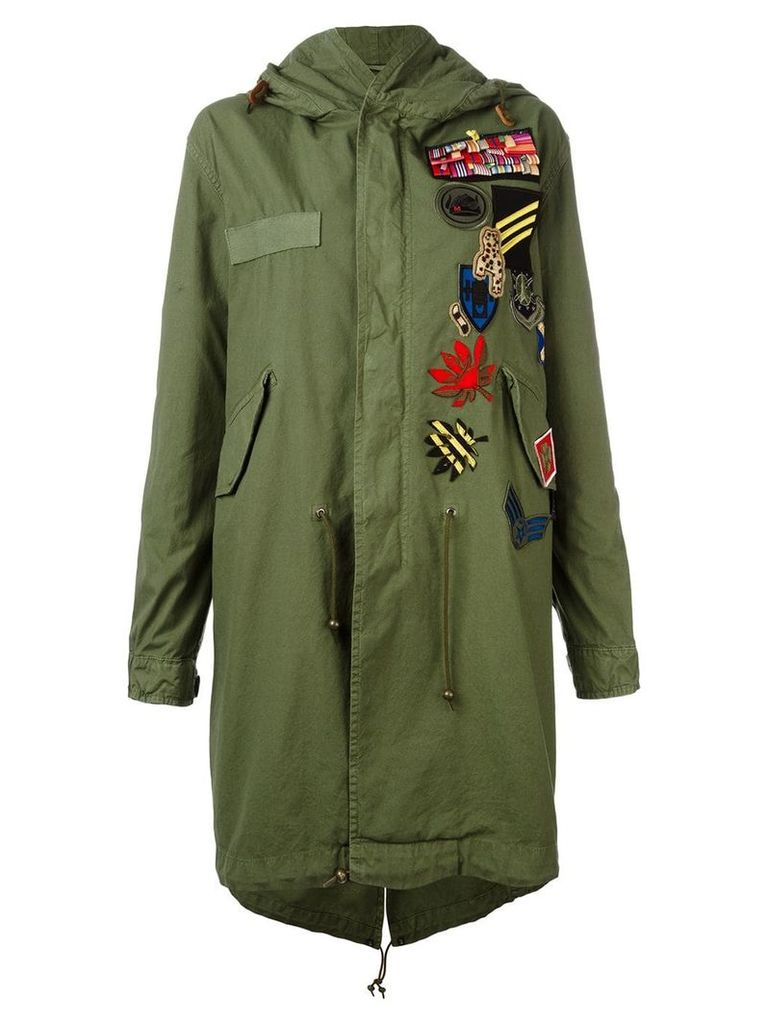 Mr & Mrs Italy multipatch parka - Green