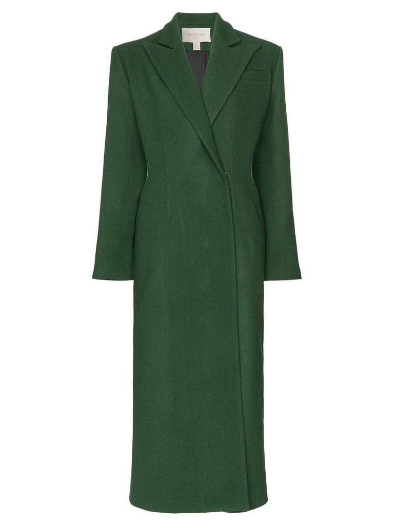 Matériel cut-out detail trench coat - Green