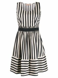 Twin-Set striped midi dress - Neutrals